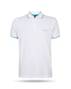 Pierre Cardin Dotted Polo Weiss