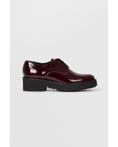 Biacass Chunky Laced Up Derby  Winered