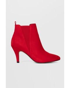 Bianur V-split Chelsea Boot  Red