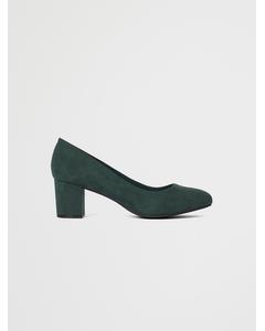 Biablanche Blok Heel Pump Wf  Dark Green