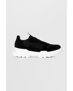 Biacanary Suede Sneaker  Black