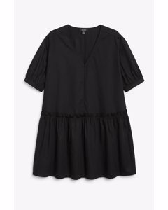 Oversize-Minikleid aus Baumwolle Black Magic