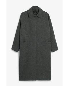 Long Tailored Coat Classic Grey