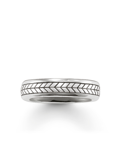 Band Ring 925 Sterling Silver, Blackened
