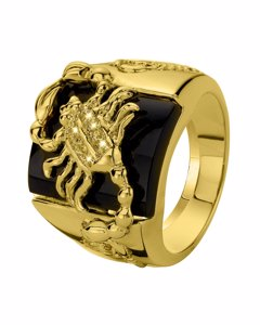 Gold Plated Ring Schorpioen