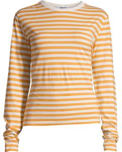 Base Ls Tee Orange Stripe
