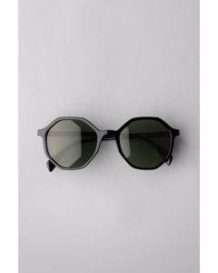 Resort Hexagon Sunglasses Black