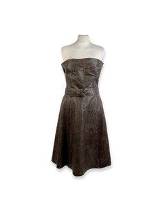Miu Miu Brown Leather Dress Modell: Bandeau Dress