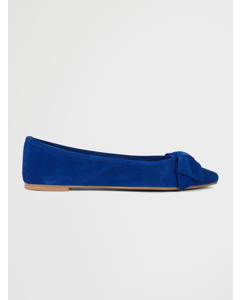 Kenny Ballerinas Blue Suede