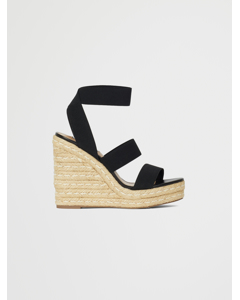 Shimmy Wedge Sandal A Black