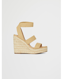 Shimmy Wedge Sandal B Nat Raffia