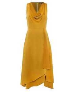 Alessia Satin Cowl Neck Dress