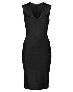 Zasha Spotlight Knit V-neck Dress
