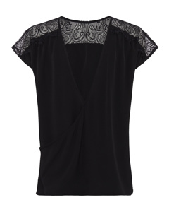 Crepe Light Solid Lace Top