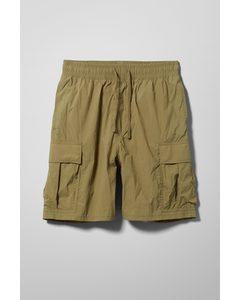 Nael Nylon Cargo Shorts Khaki Green