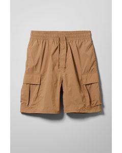 Nael Nylon Cargo Shorts Beige