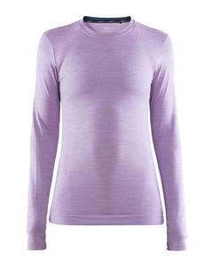 Fuseknit Comfort Rn Ls W - Flare Melange-purple-l