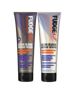 Fudge Clean Blonde Damage Rewind Duo Violet Schampo + Conditioner 250ml