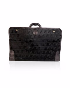 Fendi Black Canvas Bagage Bag Modell: Foldable Suitcase