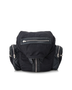 Alexander Wang Lambskin Trimmed Nylon Marti Backpack Black