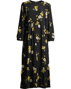 Rachel Babydoll Midi Dress W Flowers Flower