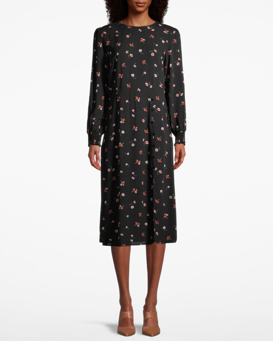 Nobody's Child Georgie Midi Dress W Flowers Flower