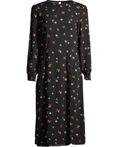 Georgie Midi Dress W Flowers Flower