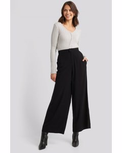 Flowy Wide Leg Pants Black