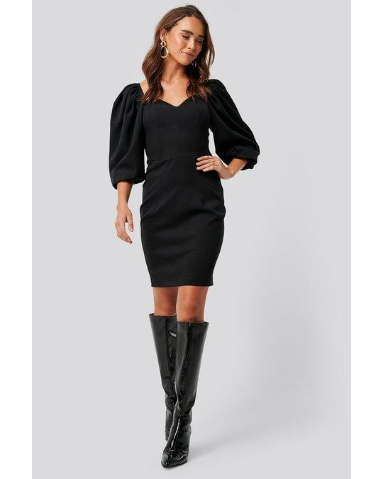 NA-KD Sweetheart Mini Dress Black