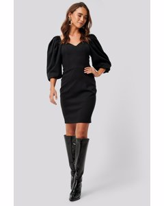 Sweetheart Mini Dress Black
