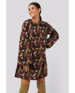 Volume Ls Mini Dress Yellow Flower