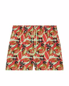 Printed Swim Shorts Red/green
