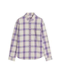 Shirt 13 Poplin Check Beige/lilac