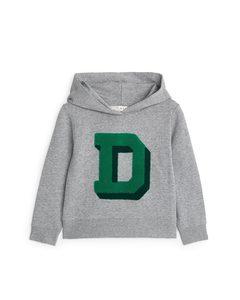 Hooded Sweatshirt Grey Melange/green