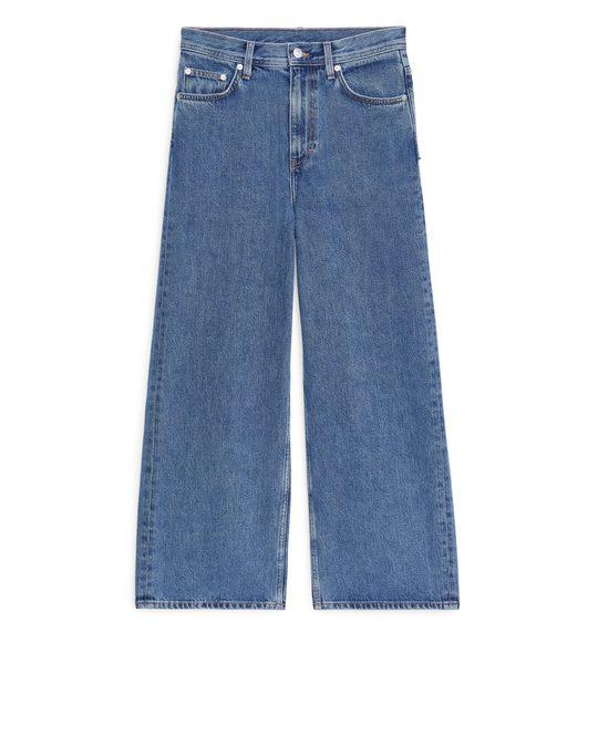 Arket WIDE Cropped-Jeans Blau