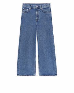 Wide Cropped Jeans Blue