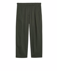 Relaxed Cotton Chinos Dark Green