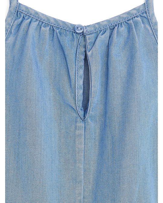 Arket Lyocell Jumpsuit Blue