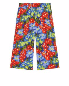Floral Lyocell Trousers Blue/floral