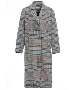 Stephenson Check Overcoat Grey