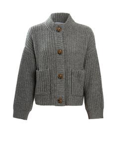 The Ellie Wool Cardigan Grey