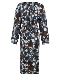 The Panthera Print Dress Blue
