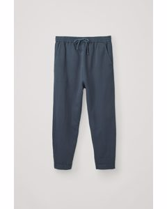 Relaxed Cotton-linen Trousers Steel Blue