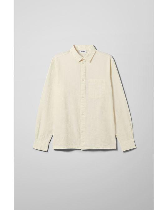 Weekday Wise Seersucker Shirt White