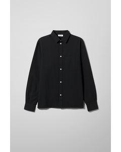 Wise Seersucker Shirt Black