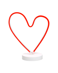Vegas Röd Hjärta Bordslampa