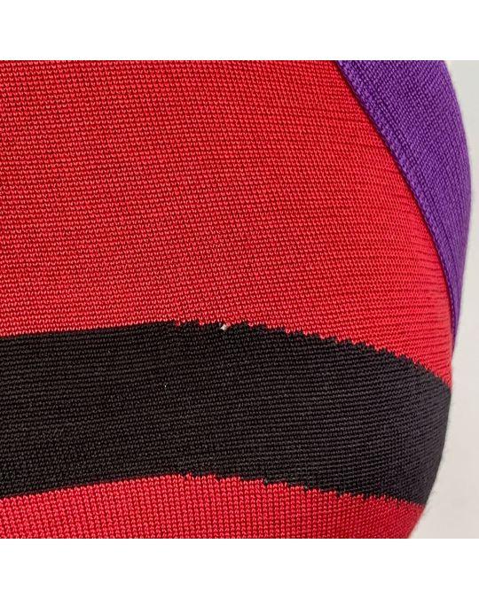 Balenciaga Balenciaga Color Block Light Knit Silk Halterneck Maxi Dress Size 40