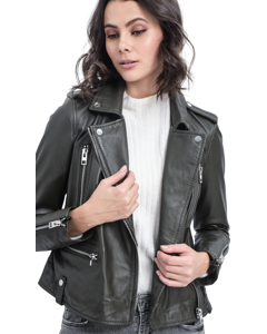 Night Leather Biker Jacket