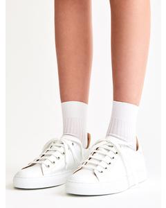 Silky Ribbed Sock White