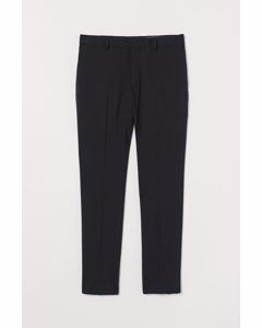 Anzughose aus Wolle Skinny Fit Schwarz